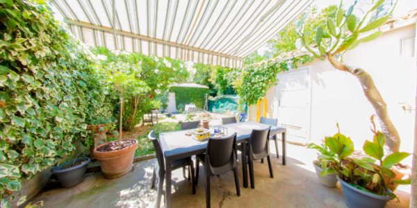 terrasse et jardin plein sud