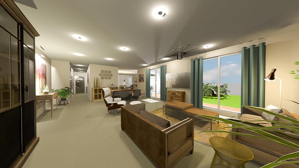 Nos architectes et décorateurs vous proposent une décoration résolument différente pour cette maison où le bois massif reprend toute sa place....