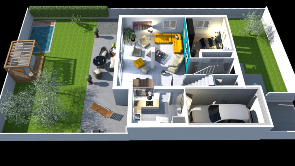 Modélisation de la maison en 3D pour mieux vous situer